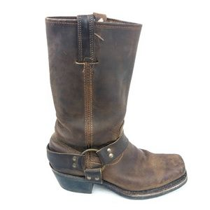 Frye /// 12R Brown Leather Harness Boots